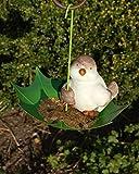 Vogeltränke Vogelbad Vogelbecken Wassertränke Tränke Wasserschale Hänger Regenschirm mit Tiermotiven (Grün)