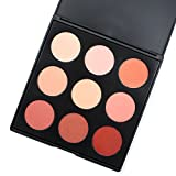 Miskos 9 N rich 9 colori nude rose Red blush palette, Soft Face blush pallet, 15 gram