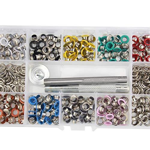 Supvox 500 STÜCKE Ösen Ösen Zangen Kit Ösen Ösen Leder Metall Werkzeuge Handtasche Installieren Stanzwerkzeug Kit