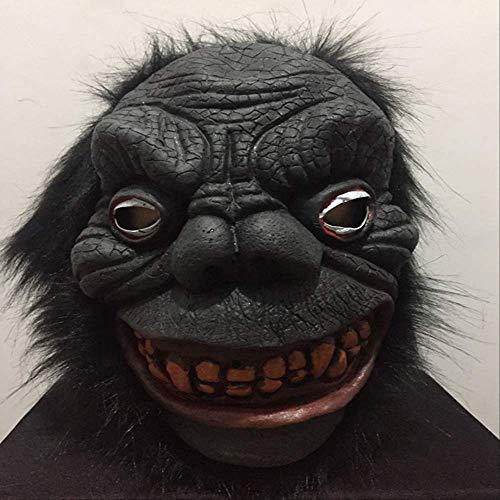 dhude Neuheit Halloween-Maske Geschenke Für Männer Seltsame Spielzeug Kostüm-Party Latex Animal Head Maske Halloween-Horror All Inclusive Animal Monkey Masken ()