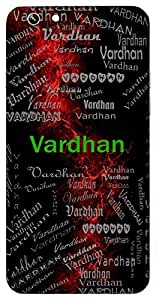 Vardhan (Lord Shiva) Name & Sign Printed All over customize & Personalized!! Protective back cover for your Smart Phone : Sony Xperia Z3