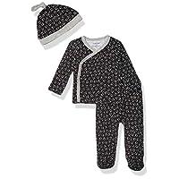 Calvin Klein Baby Newborn Take Me Home Set, Multi-Piece, Tossed Stars Heather Grey