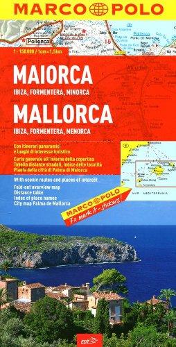 Maiorca, Ibiza, Formentera, Minorca 1:150.000