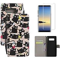 Carcasa para Samsung Galaxy S8Funda Piel y Protector de pantalla