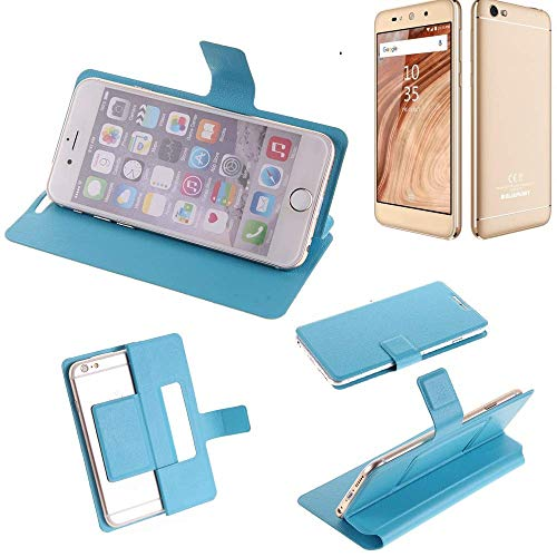 K-S-Trade Flipcover für Blaupunkt SL02 Schutz Hülle Schutzhülle Flip Cover Handy case Smartphone Handyhülle blau