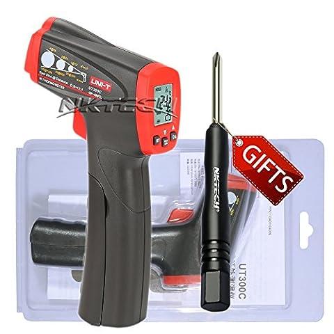 Nktech Uni-T Ut300C infrarouge IR Thermomètre Température Mètre -20& # X2103; au 400& # X2103; ou -4& # X2109; au 752& # X2109; Gun sans contact Auto Power Off Max/min Mesure Mètre + Tl-1Tournevis