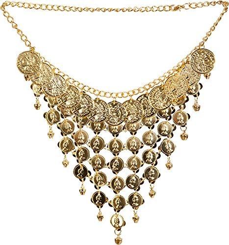 Orient-Set, Kette mit Ohrringen, gold (Wahrsager Kostüm)