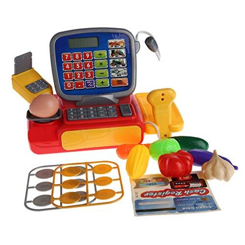 JAGENIE Cash Register mit Scanner Wiegefläche Elektronisches Spielzeug Play Pretend für Kid (Cash Register Scanner)