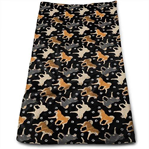 Funny Bag 2019 Badetücher/Handtücher mit Pfotenabdrücken, sehr saugfähig, Mehrzweck-Handtücher für Handgesicht, Fitnessstudio, Spa, 30,5 x 69,8 cm - Frontgate-matte