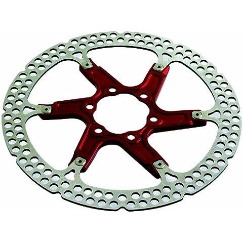 Formula 6 Trous - Rotor de freno para bicicletas, color rojo / blanco, talla 203 mm