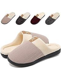 6b15bd123721 VIFUUR Women s Winter Memory Foam Slippers Short Plush Lining Anti-Skid  Sole Slip On House Shoes Indoor…