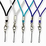 Rancco® 5 Stück PU-Leder Umhängeband/ Trageband/ Schlaufe, 18