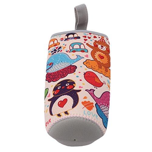 Yinew 550ml Wasser Flasche Staubbeutel Thermos Cup Tasche Flasche Sleeve Kühler Carrier Isolierung Cup Sleeve, Neopren, 4#, Siehe Produktbeschreibung 4-cup Carrier