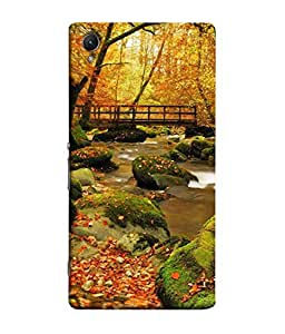PrintVisa Designer Back Case Cover for Sony Xperia X :: Sony Xperia X Dual F5122 (Scenic Design Of Water Flowing Under The Bridge)