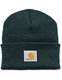 19ef3b7f117 Carhartt Acrylic Watch Cap - Green Black Iconic Watch Hat Ski Hat  CHA18303GRNBLK