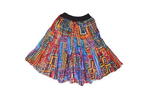 Crapgoos Rajasthani Cotton short skirts for Women & Girls (Multi Color)