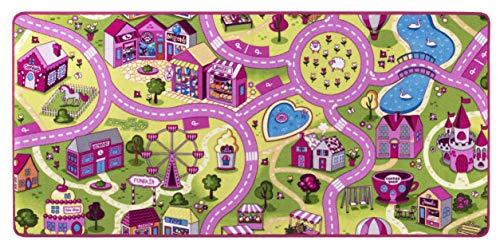 andiamo Straßenteppich/Spielteppich Sugar Town, Pink, Rosa, GUT/Prodis geprüft, weich, Größe:95x200cm