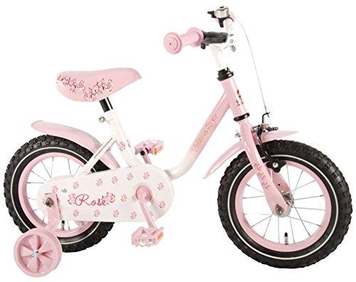 12 Zoll Kinderfahrrad Fahrrad Mädchenfahrrad mit Rücktritt Pink Rose 71233