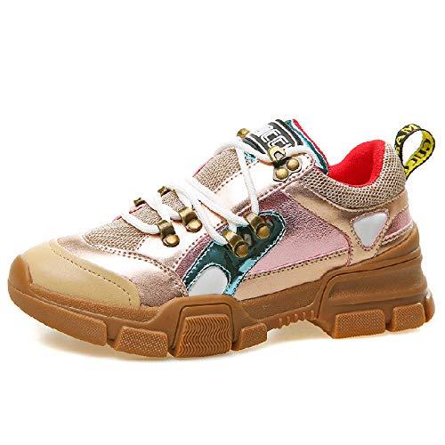 SBL Women's England atmungsaktive Mode Schuhe - Frauen Plattform Turnschuhe,Rosa,37
