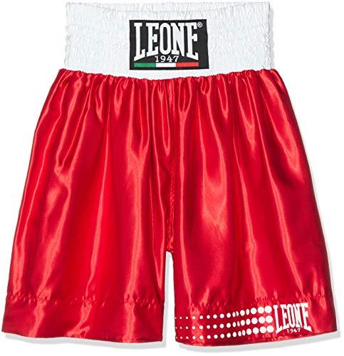 Leone 1947 AB730 Pantalones Cortos de Boxeo, Unisex - Adulto, Rojo, XS