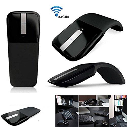 Voberry Mouse, 2,4 GHz Wireless Optical ArcTouch Maus Mäuse mit USB-Empfänger für PC Laptop