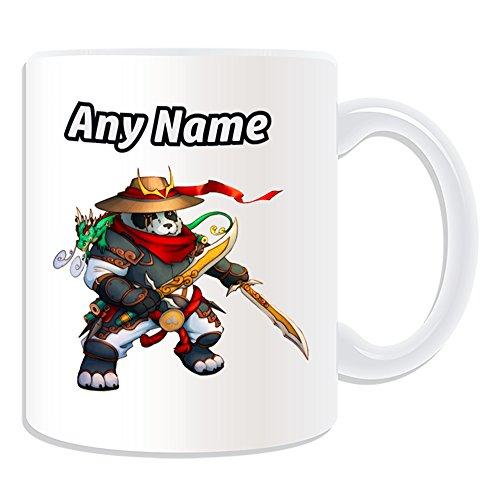 Taza personalizable–de regalo Pandaren Rogue (MMORPG tema de dis