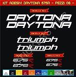Aufkleber stickers TRIUMPH DAYTONA 675R -Motorrad- Cod. 0612 (Bianco cod. 010)