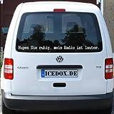 Hupen Sie ruhig - Autoaufkleber Autotattoo Sticker Heckscheibenaufkleber (170-ultra)