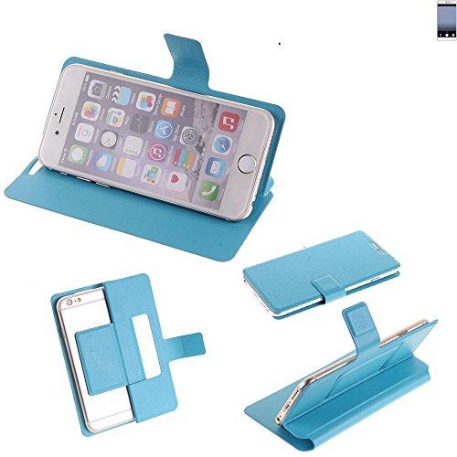 K-S-Trade Flipcover für TP-LINK Neffos C7 Schutz Hülle Schutzhülle Flip Cover Handy case Smartphone Handyhülle blau