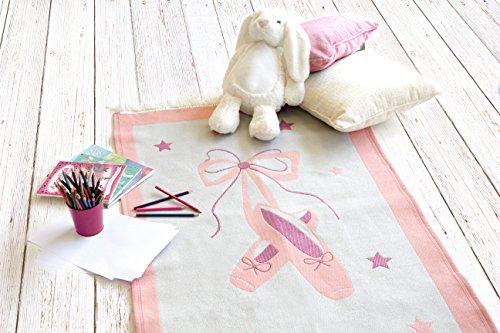 Los niños de la alfombra, alfombra de juego para niños, niños de la alfombra para la habitación de niña, Zapatillas de ballet, 120x 80cm