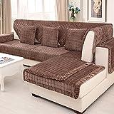 La bufanda de simple corto modernos sofás en invierno/ cojín de franela acolchada antideslizante/ toalla de funda de sofá-A 90x180cm(35x71inch)