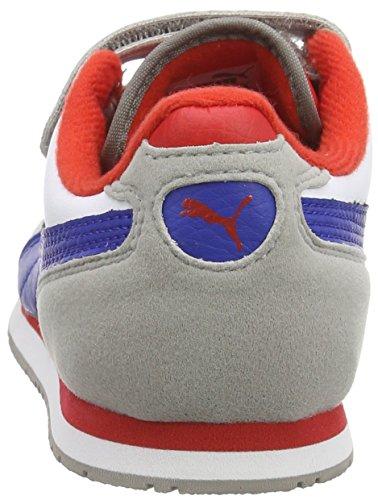 ... Puma Cabana Racer SL V Kids Unisex-Kinder Sneakers Grau (drizzle-white-  ... adee439a4e