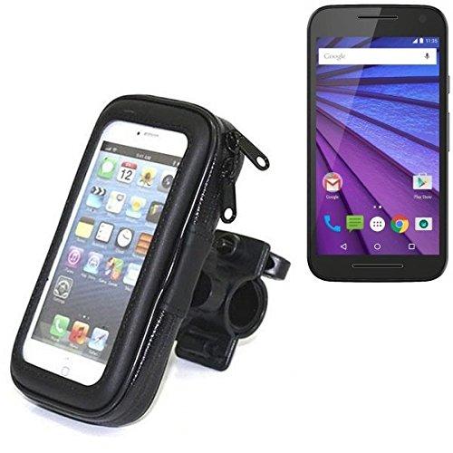 Für Motorola Moto G (3. Gen.) Fahrrad Halterung Handy Halterung Lenkstange Fahrrad Halter Motorrad Bike mount Smartphone Halter für Motorola Moto G (3. Gen.) Wasserabweisend, regensicher, spritzwasserdicht - K-S-Trade(TM)