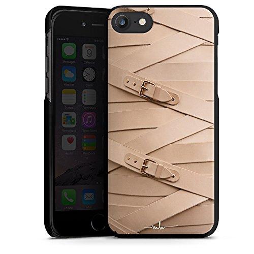 Apple iPhone X Silikon Hülle Case Schutzhülle Schnalle Leder Mode Hard Case schwarz