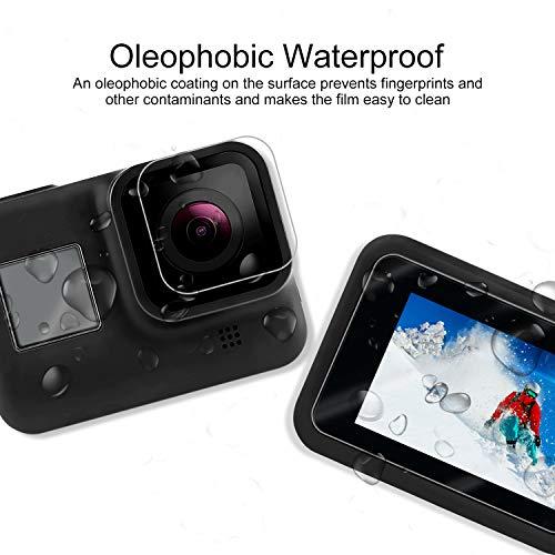 Pel/ícula Protectora Mejorada de Cristal Templado Accesorios de Cristal Templado para la Lente de la GoPro Hero 8 Linghuang Protector de Pantalla para GoPro Hero 8 1 + 1 + 1