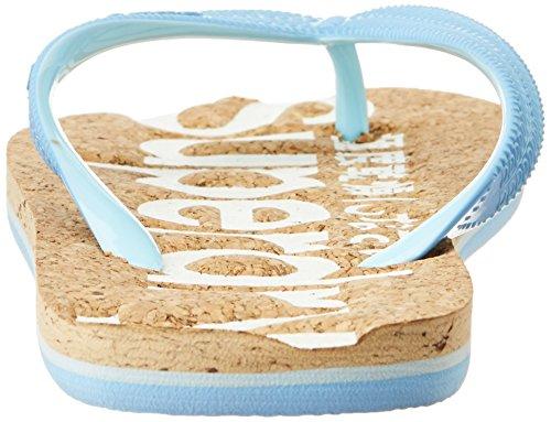 Superdry Cork Flip Flop Damen Sandalen Blau Blau