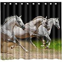 Waterproof mouldproof Cortinas de ducha impermeables a prueba de moho para caballos