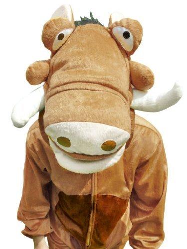 Timon Kostüm - Warzen-Schwein Kostüm, Su01 Gr. M-L, Warzenschwein-Kostüm für Männer und Frauen, Schweine-Kostüme für Fasching Karneval, als Karnevals- Fasnachts-Kostüm, Tier-Kostüme Faschings-Kostüme Erwachsene