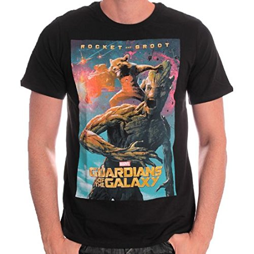 Guardians Of The Galaxy Rocket & Groot T-Shirt nero M