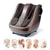 HIXGB Masseur de Pied Électromagnétique - 5 Modes de Massage, 3 Points Forts - Télécommande Intelligente - Laminage Shiatsu Électrique et Compression de l'air - pour Les Bureaux à Domicile