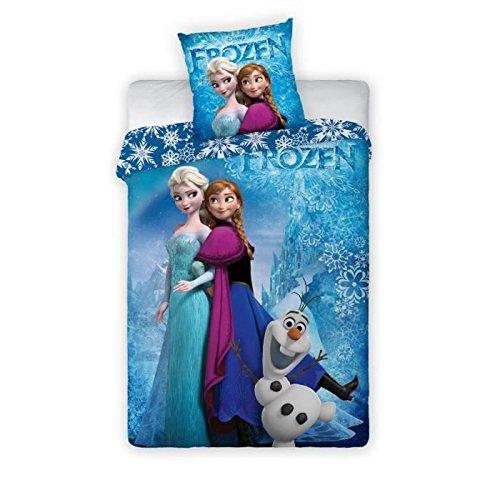 Juego de cama con funda nórdica de 140 x 200 cm, diseño de Frozen: El reino del hielo
