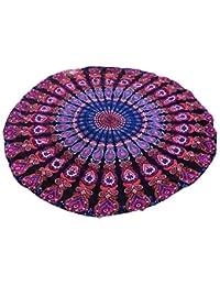 Toalla Redonda de Playa Cebbay Mandala Tapestry Indian Hippie Hanging Toalla para Yoga/Gimnasio/