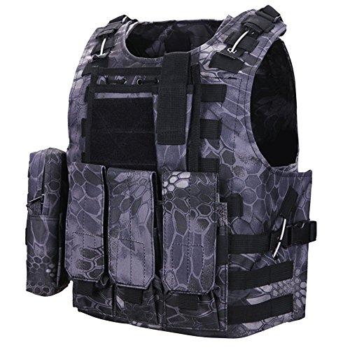 Mosie Militär-, Softair-, Paintball, CS-Assault SWAT Weste, leicht, für Jagd, Outdoor, activties (Paintballs Softair)