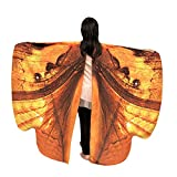 Honestyi Kid Baby Girl Butterfly Wings Schal Schals Nymphe Pixie Poncho Kostüm Zubehör Spezieller Schmetterlingsflügelschal der Kinder tanzen