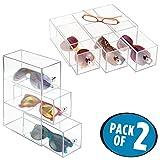 Best MetroDecor Eyeglasses - mDesign Glasses Display Case - Set of 2 Review