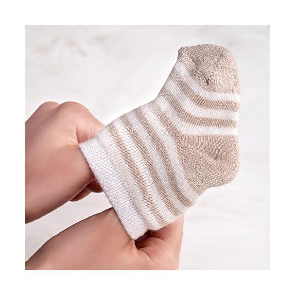 Jacobs Calcetines de recién nacido / Patucos bebé de algodón rizado con motivos ositos - Lote 6 pares (0-3 meses… 5