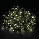200 LED Catena luminosa Natale 20m per interni/esterni bianco caldo