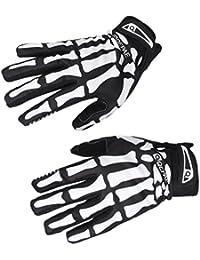 Generic Paire de gants de cyclisme Motif mains de squelette Noir/blanc