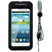 Armor-X Outdoor Étui de protection sport pour iPhone 5 et Samsung Galaxy S3 Waterproof et résistant aux chocs, avec port pour écouteurs et lanière de transport Noir