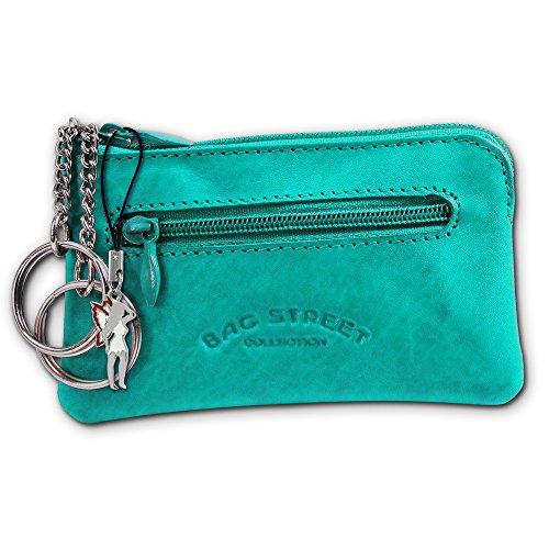 SilberDream Schlüsseltasche türkis / aqua Echtleder, glattes Leder Etui mit Feeanhänger fürs Handy OPJ900T